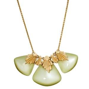 Alexis Bittar Lucite Crystal Gold Tone Necklace
