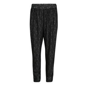Alice + Olivia Black Lace High Waist Tapered Pants L