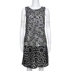 Alice + Olivia Limited Edition Embellished Tulle Laser Cut Remi Shift Dress M