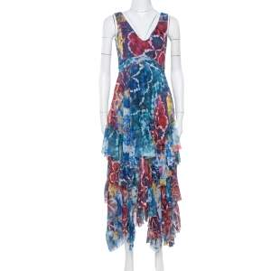 Alice + Olivia Multicolor Tie-Dye Kaleidoscope Dress XS