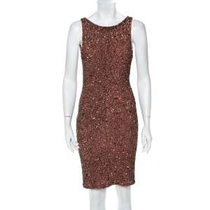Alice + Olivia Cameo Pink Sequined Sleeveless Kimber Dress M