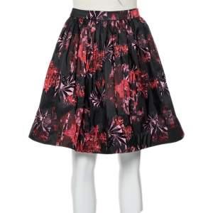 Alice + Olivia Black Jacquard Pouf Pia Skirt XS