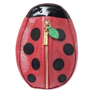 Alice + Olivia Red/Black Epi Leather Lady Bug Pouch