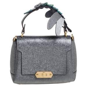 Anya Hindmarch Metallic Leather Small Dragonfly Bathurst Top Handle Bag