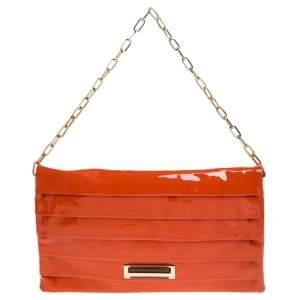 Anya Hindmarch Orange Patent Leather Shoulder Bag