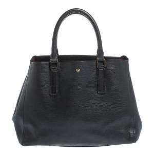 Anya Hindmarch Black Leather Ebury Soft Tote