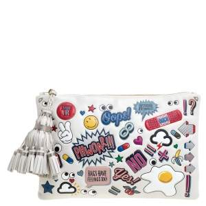 Anya Hindmarch Multicolor Leather All Over Stickers Georgiana Clutch