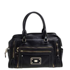 Anya Hindmarch Black Leather Shirley Satchel