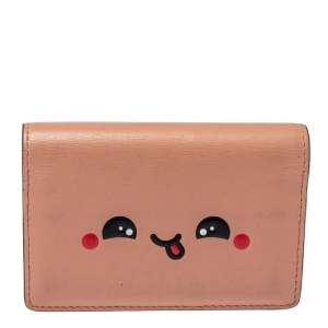 Anya Hindmarch Powder Pink Leather Card Case
