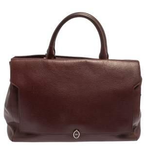 Anya Hindmarch Burgundy Leather Bathurst Top Handle Bag