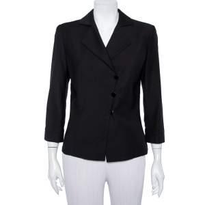 Armani Collezioni Black Wool Double Breasted Blazer M