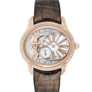 Audemars Piguet MOP Diamonds 18K Rose Gold Millenary 77247OR Women's Wristwatch 39.5 MM