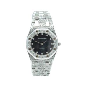 Audemars Piguet Royal Oak White Gold Diamond Women's Watch 27 MM