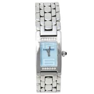 Audemars Piguet Blue Stainless Steel Diamond Promesse 67259ST.ZZ.1156ST03 Women's Wristwatch 36 mm x 20 mm