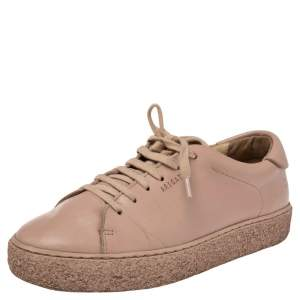 Axel Arigato Pink Leather Lace Up Sneakers Size 37