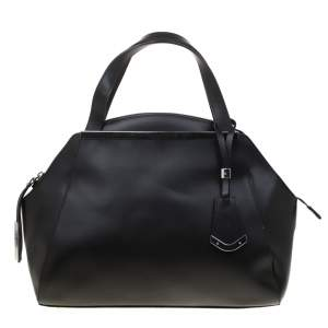 Baldinini Black Leather Satchel