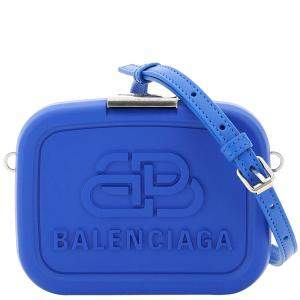 Balenciaga Blue Recycled Plastic/Leather Lunch box Mini Case Bag