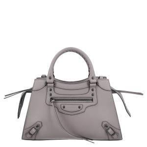 Balenciaga Grey Leather Neo Classic Small top handle bag