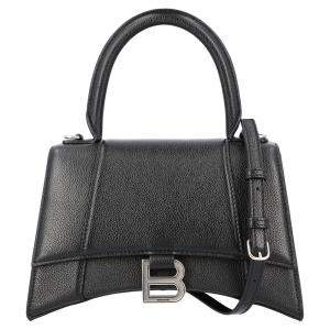 Balenciaga Black Leather Hourglass Small Top handle Bag