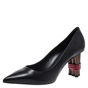 Balenciaga Black Leather Bistrot Pointed Pumps Size 39.5