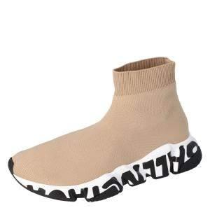 حذاء رياضي بالنسياغا سبيد  نعل غرافيتي تريكو بيج مقاس 35