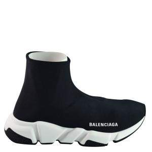 Balenciaga Black Stretch Sneakers Size 39