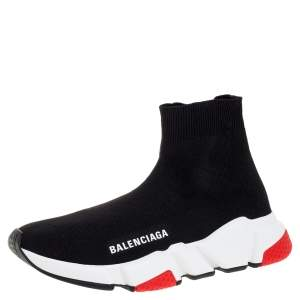 Balenciaga Black Knit Fabric Sock Design 'Speed' Sneakers Size 36