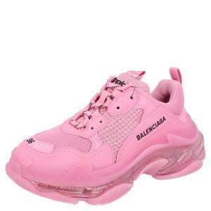 Balenciaga Pink Triple S Clearsole Sneakers Size EU 36