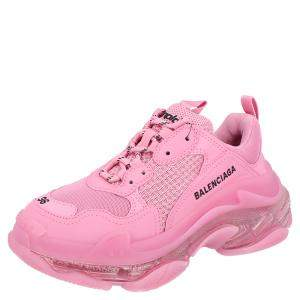 Balenciaga Pink Triple S Clearsole Sneakers Size EU 40