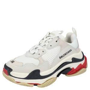 حذاء رياضي بالنسياغا تريبل أس أبيض مقاس أوروبي 38