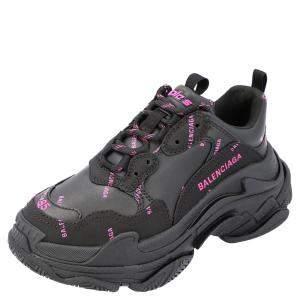 حذاء رياضي بالنسياغا تريبل أس وردي و أسود مقاس أوروبي 39