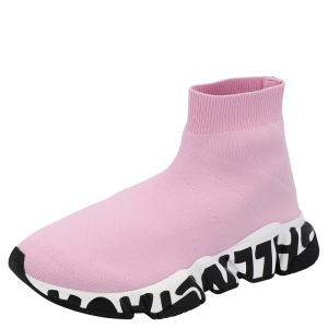 Balenciaga Pink Graffiti Speed Sneakers Size EU 39