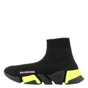 Balenciaga Black/Yellow Speed 2.0 Sneaker Size EU 39