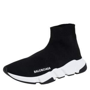حذاء رياضي بالنسياغا سبيد سليب أون قماش تريكو أسود مقاس 37