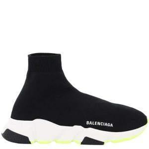 Balenciaga Black/White Speed 2.0 Sneakers Size IT 38