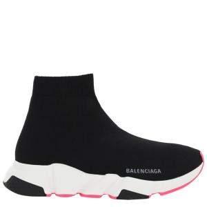 Balenciaga Black/Pink Speed Sneakers Size IT 39