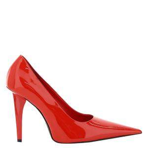 Balenciaga Red Patent Leather Knife Shark Pumps Size IT 38