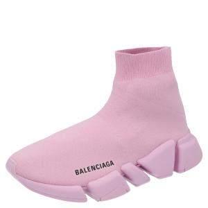 Balenciaga Pink Knit Speed Sneakers Size EU 38