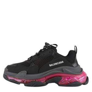 Balenciaga Black/Pink Triple S Clear Sole Sneakers Size EU 39