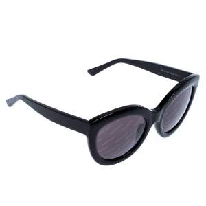 Balenciaga Black BA 133 Logomania Cat Eye Sunglasses