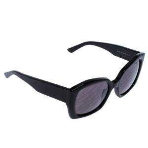 Balenciaga Black Logomania Square Sunglasses
