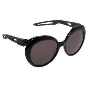 Balenciaga Black Tone/ Grey BB0024S Oversized Sunglasses