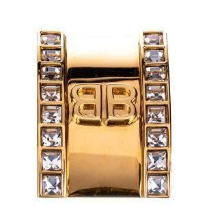 Balenciaga  Gold  Logo Clip Ear Cuff