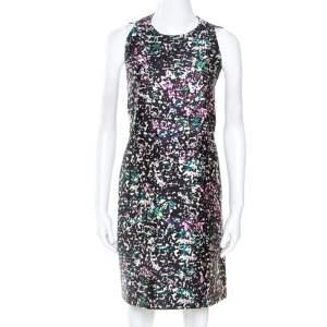 Balenciaga Multicolor Printed Silk Blend Trapeze Dress M