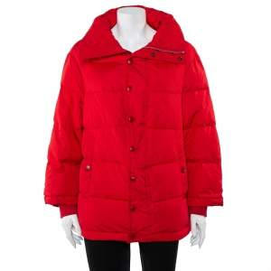 Balenciaga Red Synthetic Quilted Puffer Jacket S