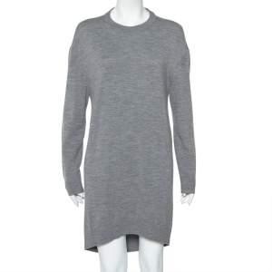 Balenciaga Grey Wool & Cashmere Oversized Sweater Dress M