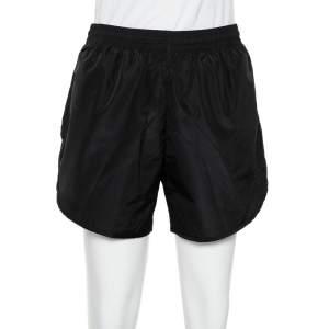 Balenciaga Black Synthetic Mesh Lined Running Shorts S