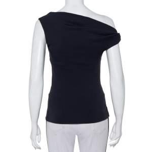 Balenciaga Charcoal Grey Knit One Shoulder Top S