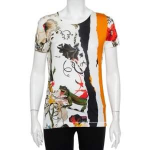 Balenciaga Multicolor Printed Cotton Crewneck T-Shirt S