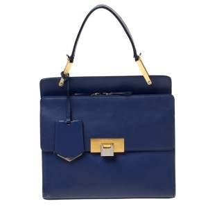 Balenciaga Violet Leather Le Dix Cartable Top Handle Bag